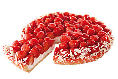 Aardbeienvlaai bladerdeegbodem
