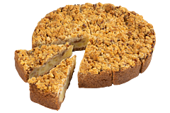 Vegan Appelkruimel taart