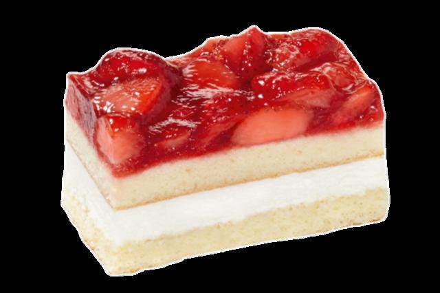 Gluten- en Lactosevrij aardbeien gebakje
