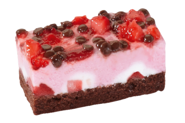 Vegan gebakje aardbeien